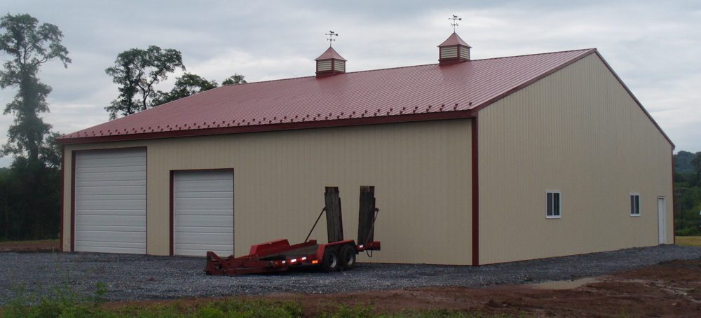 Back side of building with drive through access