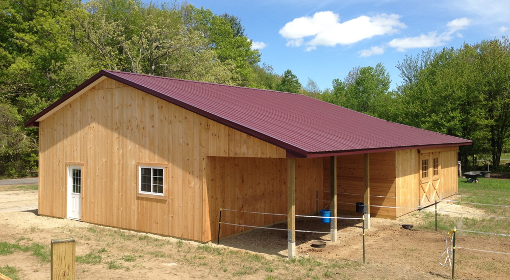 Open porch for outdoor livestock shelter
