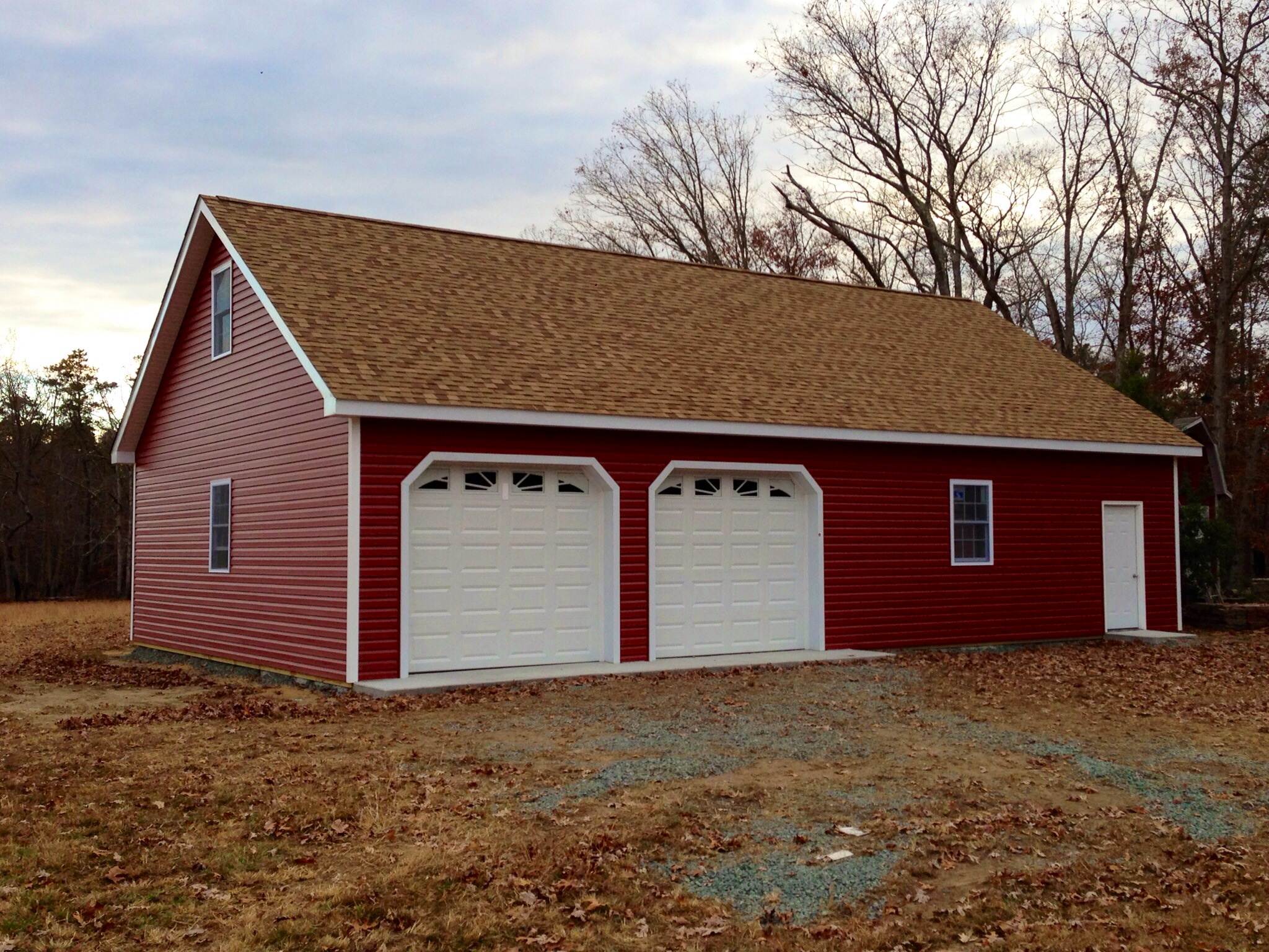 Garage With Vinyl Siding And Shingle Roof Lancaster Pole