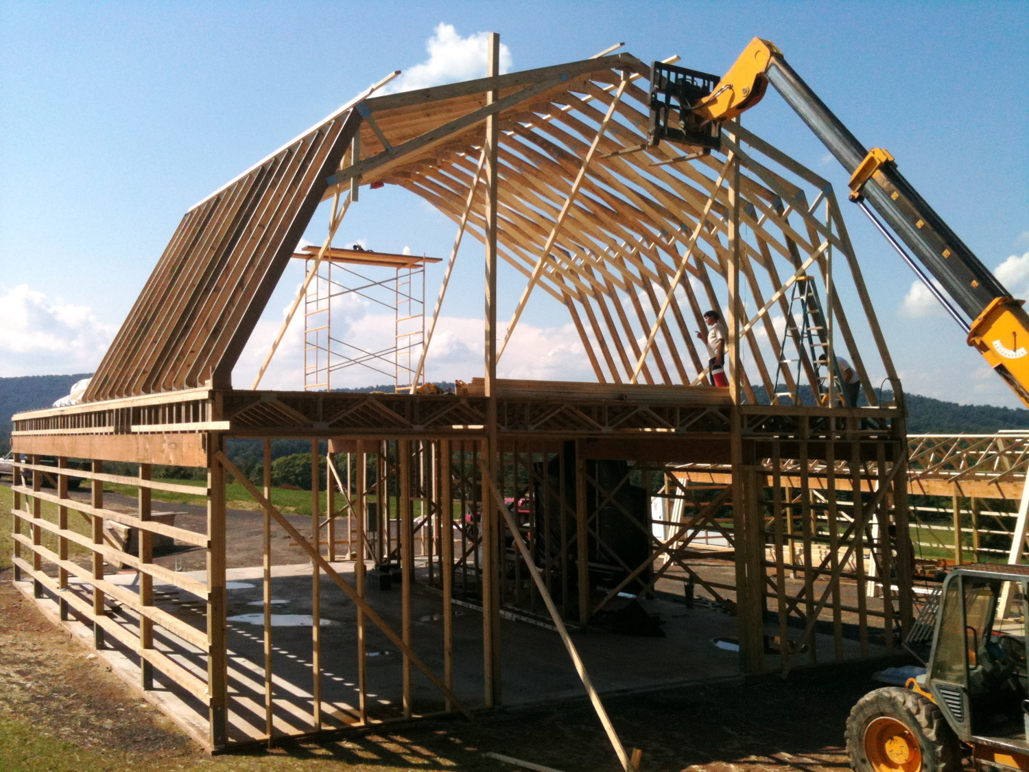 Framing The 2 Story Barn