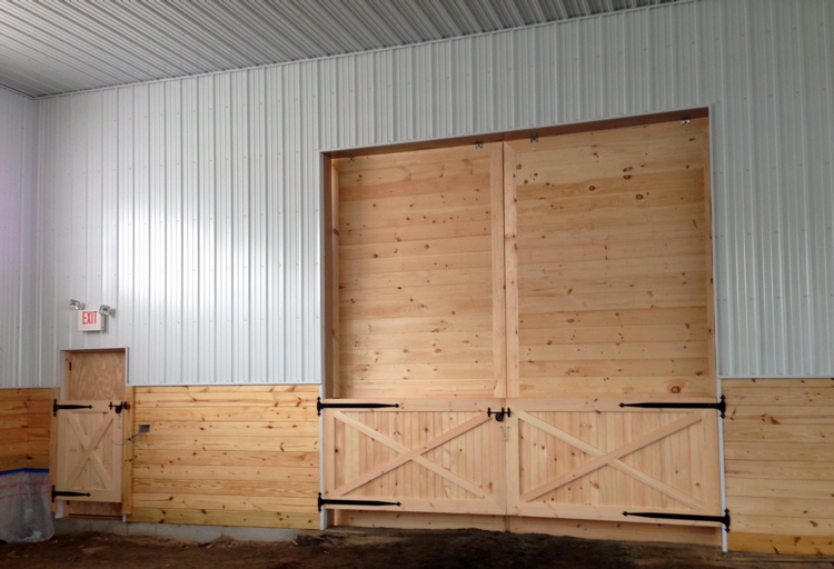 Kick board gates & wooden slider doors