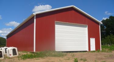40ft x 100ft x 16ft building for equipment storage