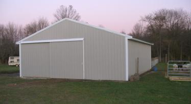 30ft x 40ft alpaca barn in Mt. Holly, NJ
