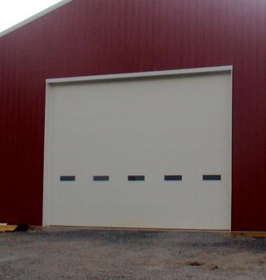 14ft x 20ft wide commercial door with windows