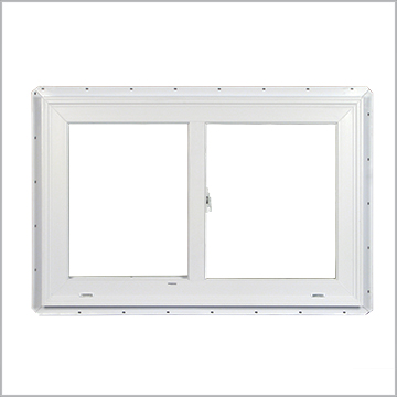 Typical vinyl sliding window (2390 model series from Silverline)