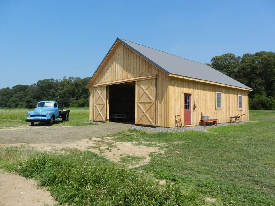 Pole Barn With Wood Siding Lancaster Pole Buildings