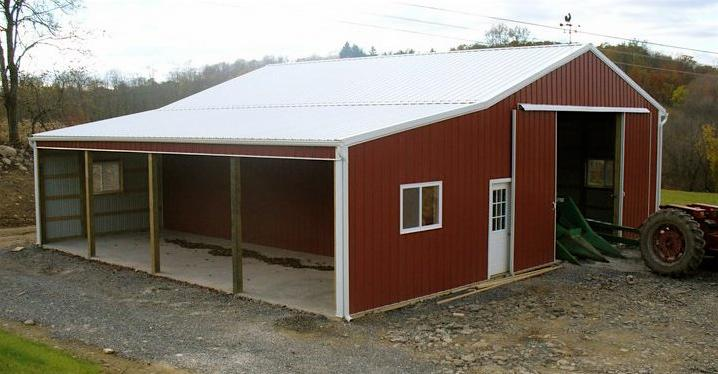 Equipment shed with porch